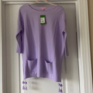 Lilly Pulitzer Elba Sweater Lilac XS-Med. NWT